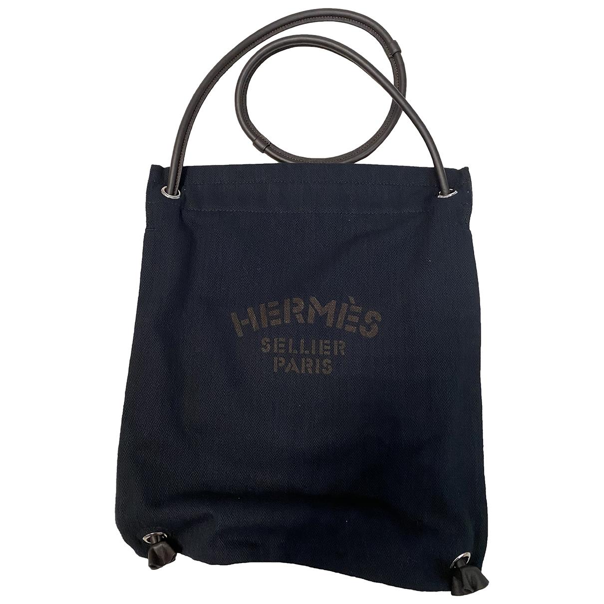 Hermes Aline Handtasche in  Blau Leinen