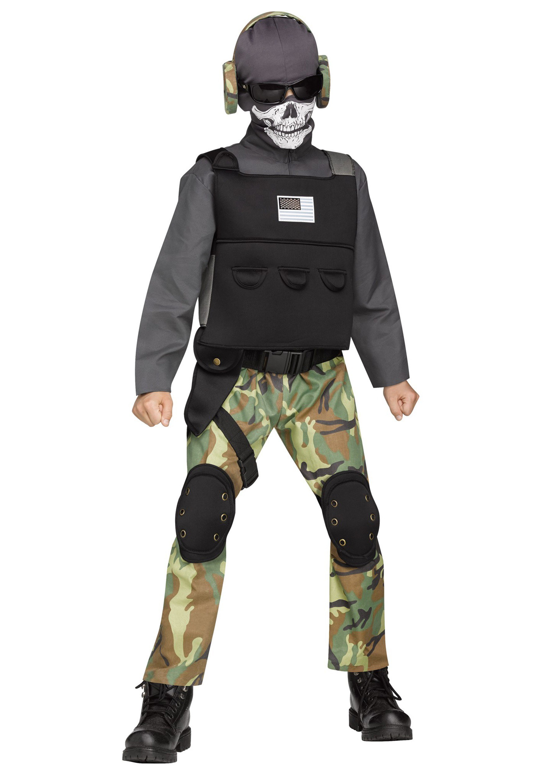 Boys Skull Soldier Costume