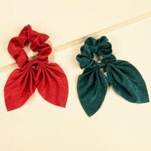 2 Stuecke einfache Scrunchie Schal