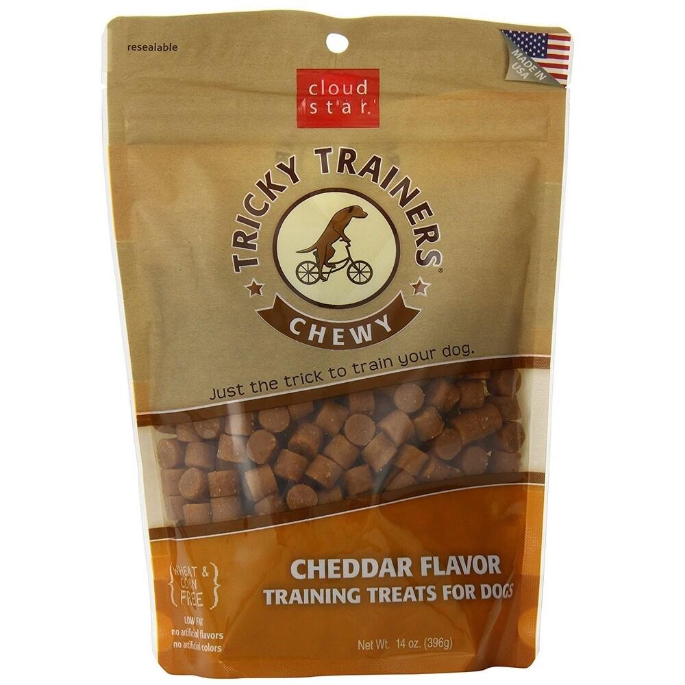 Cloud Star  Chewy Tricky Trainers Cheddar 14 oz Dog Treats