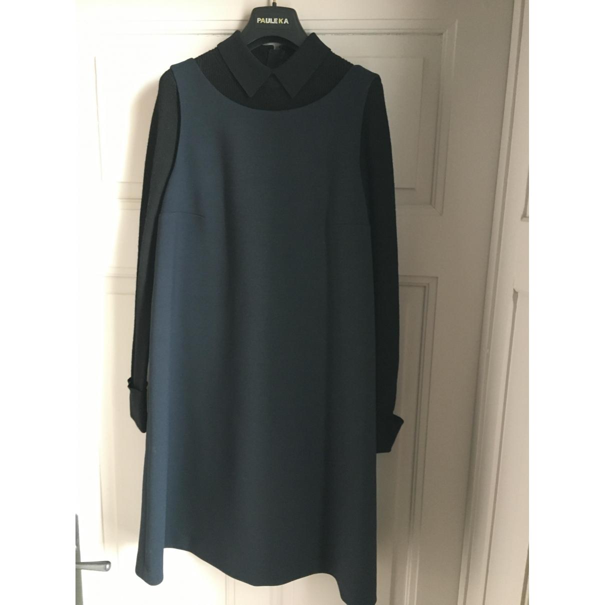 Paule Ka \N Kleid in  Marine Wolle