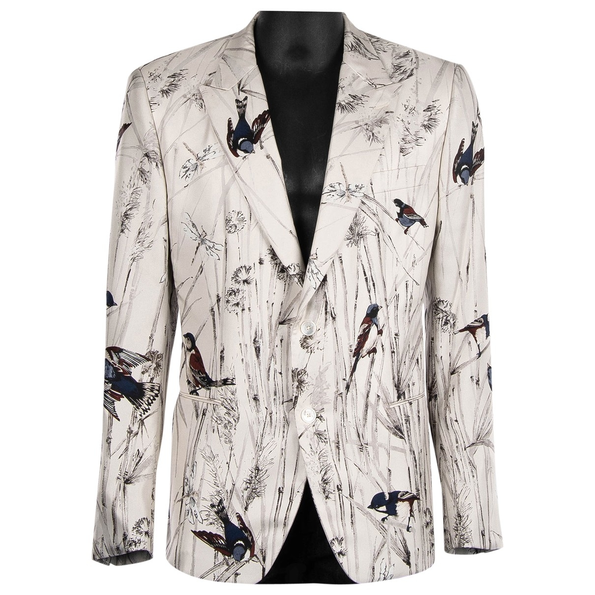 Dolce & Gabbana \N White Silk jacket  for Men 54 IT