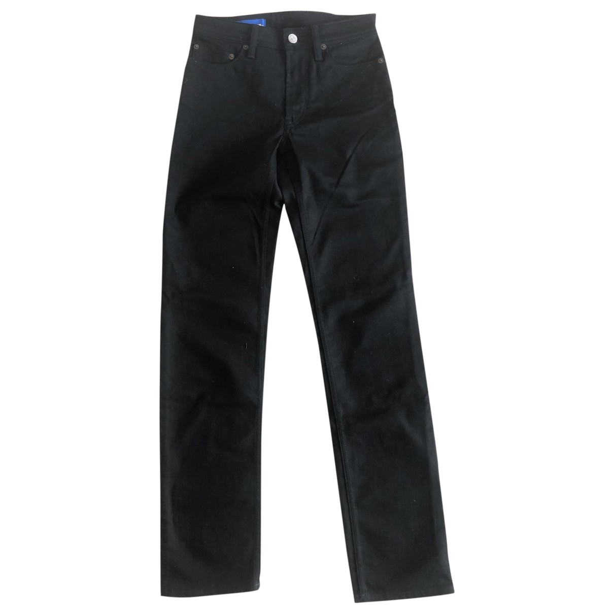 Acne Studios Blå Konst Black Cotton Jeans for Women 32 FR