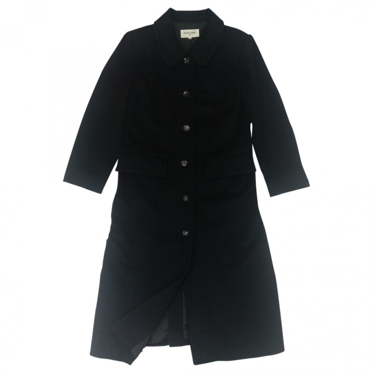 Hanae Mori \N Black Cashmere Trench coat for Women M International