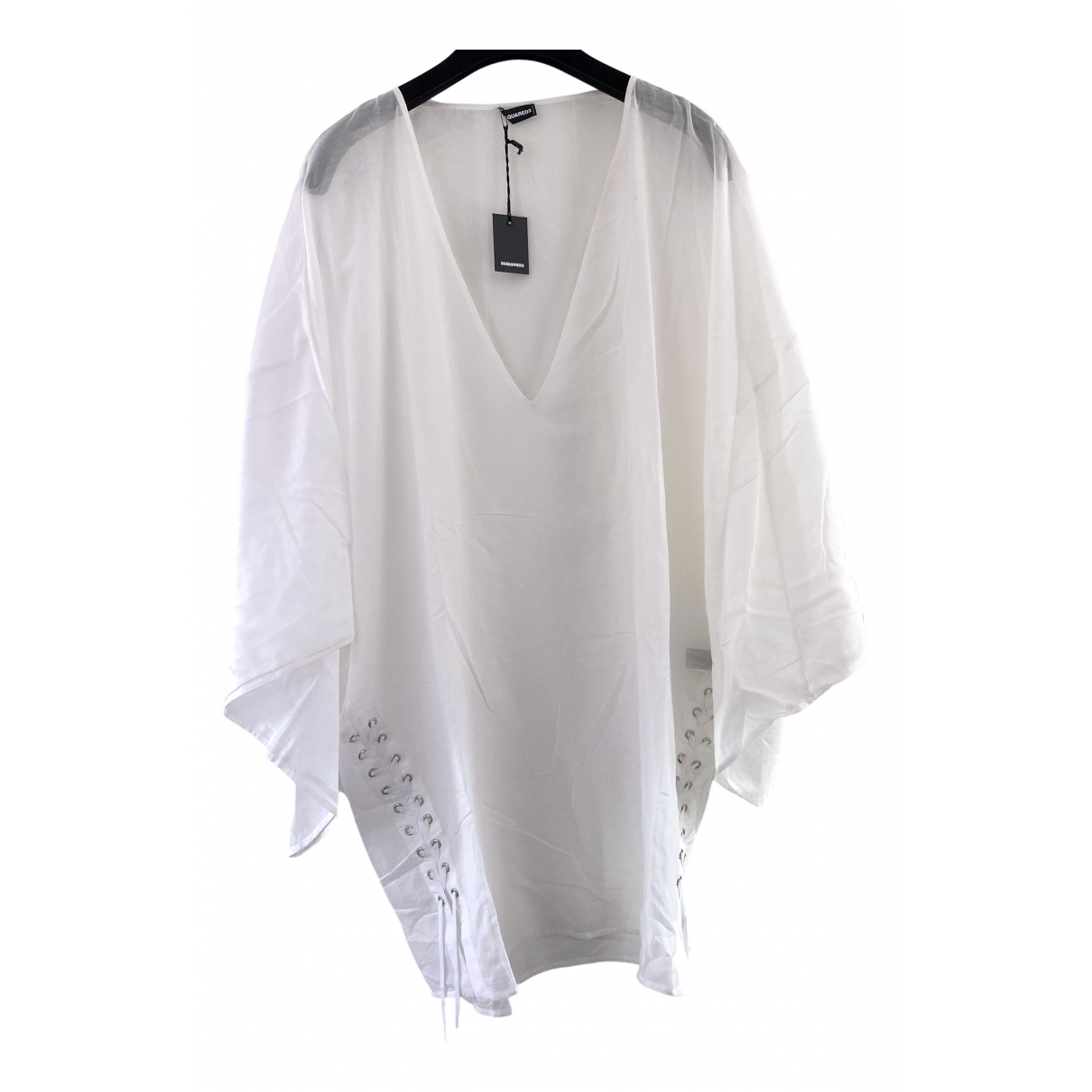 Dsquared2 \N White Cotton  top for Women XL International