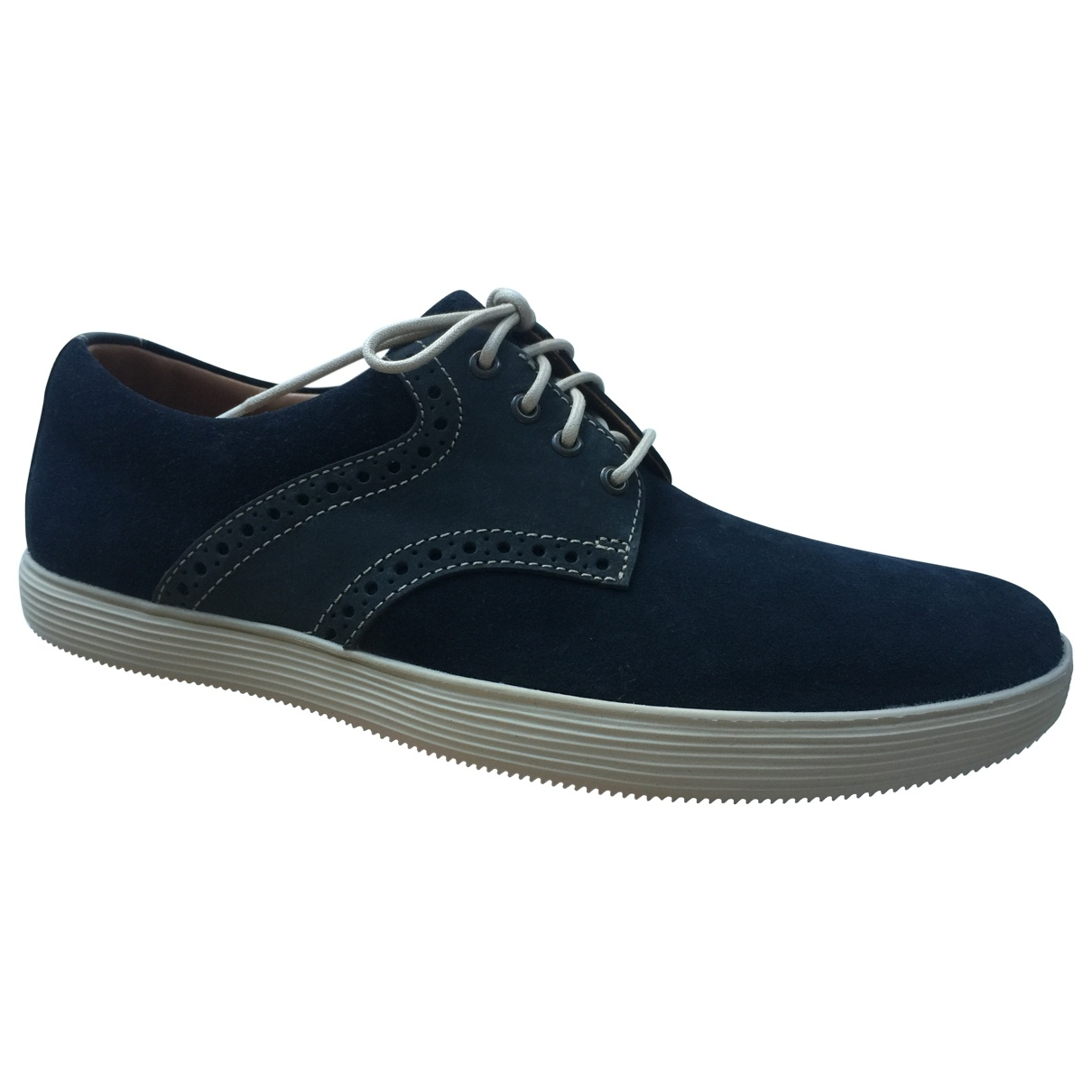 Clarks \N Navy Suede Trainers for Men 39.5 EU