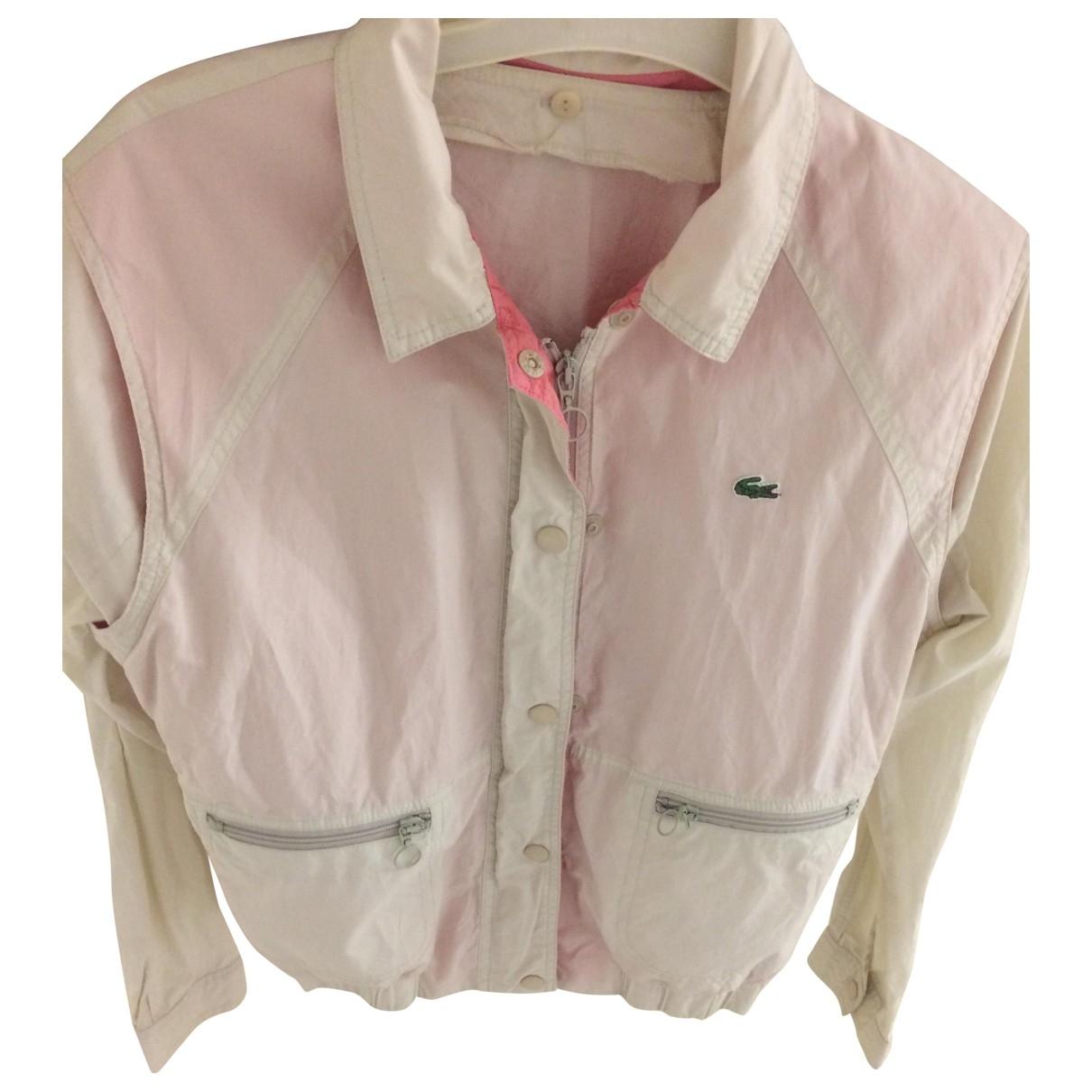 Lacoste \N Ecru Cotton jacket for Women 42 IT
