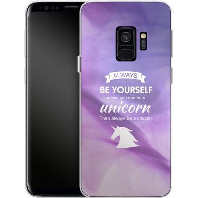 Samsung Galaxy S9 Silikon Handyhuelle - Be A Unicorn von Statements