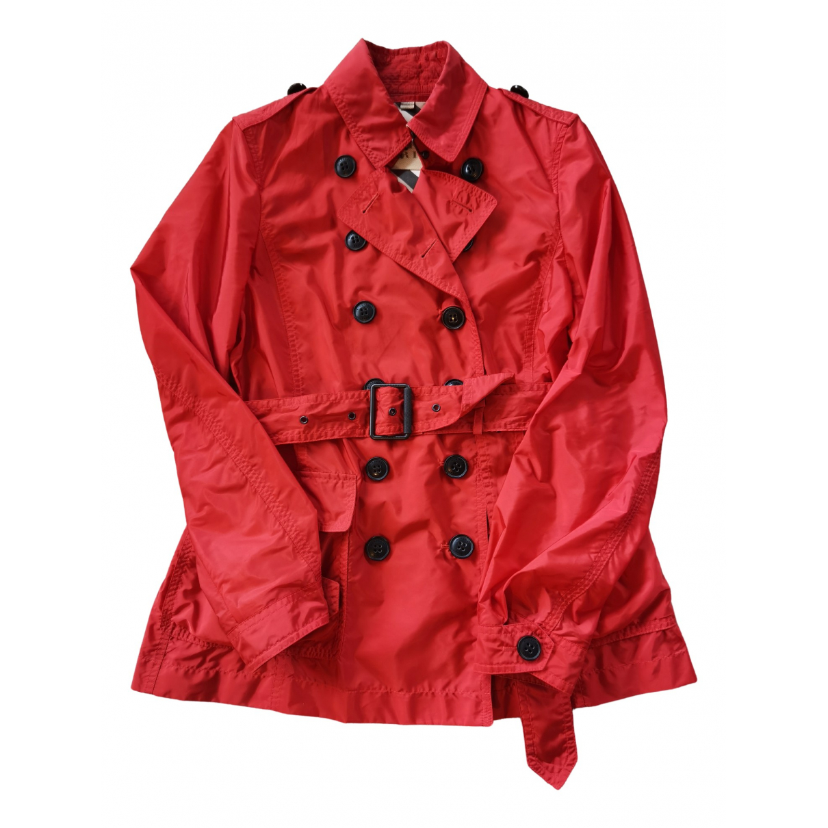 Burberry - Trench   pour femme - rouge