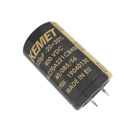 KEMET 180μF Electrolytic Capacitor 400V dc, Snap-In - ALC80A181CB400 (160)