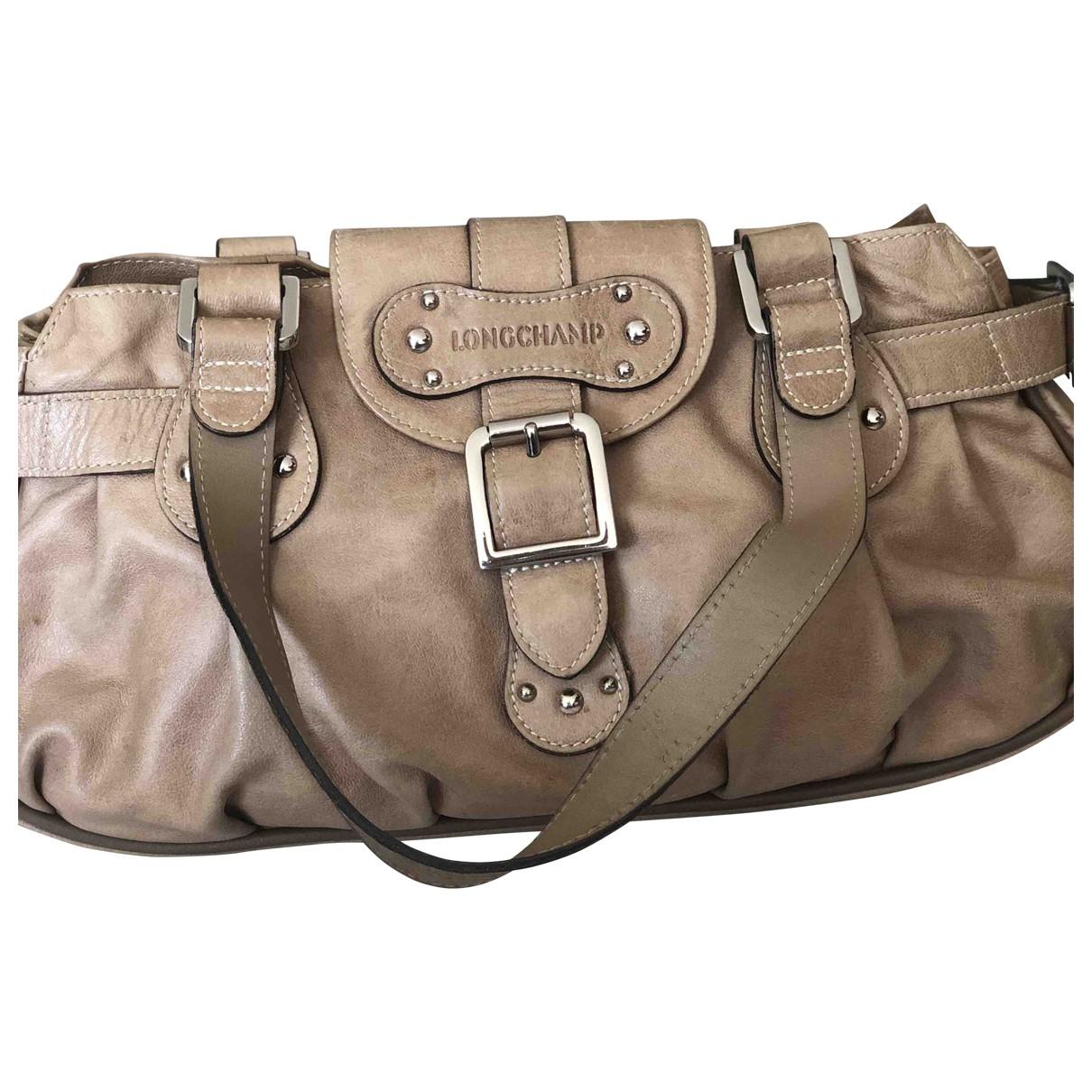 Longchamp - Sac a main Idole pour femme en cuir - beige