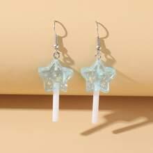 Star Lollipop Drop Earrings