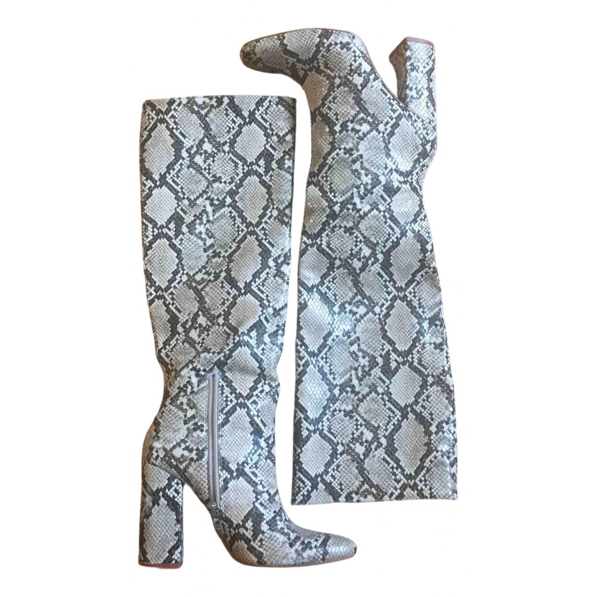 Zara N Beige Water snake Boots for Women 37 EU