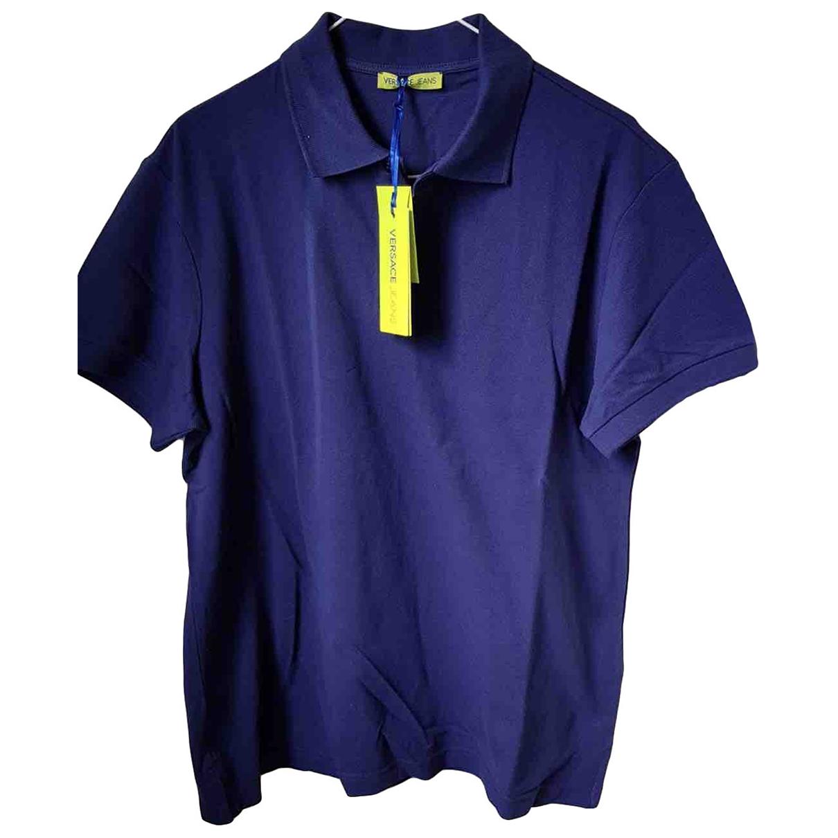 Versace Jean - Polos   pour homme en coton - bleu