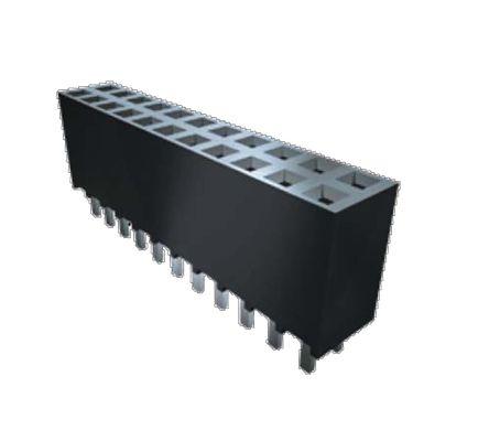 Samtec , SSW 2.54mm Pitch 20 Way 2 Row Straight PCB Socket, Through Hole, SMT Termination (21)