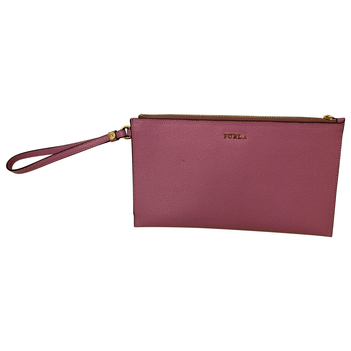 Furla \N Clutch in  Rosa Leder
