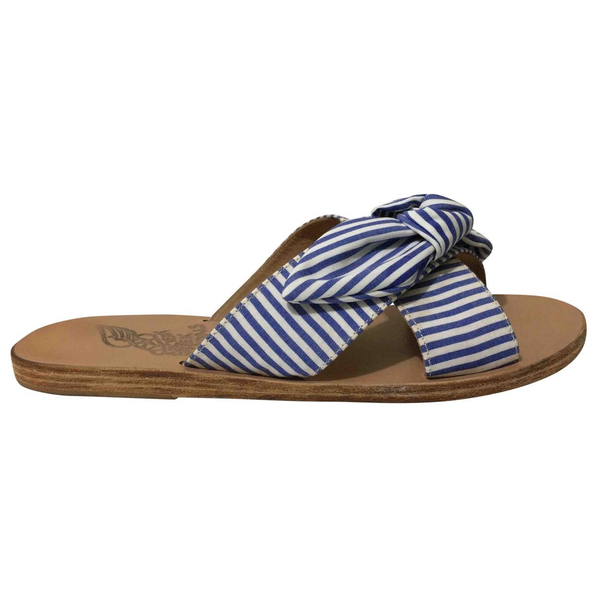 Ancient Greek Sandals - Sandales   pour femme en cuir - bleu