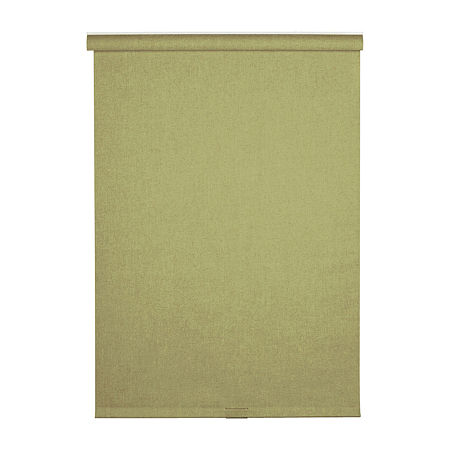 Cordless Linen-Look Fabric Roller Shade, One Size , Green