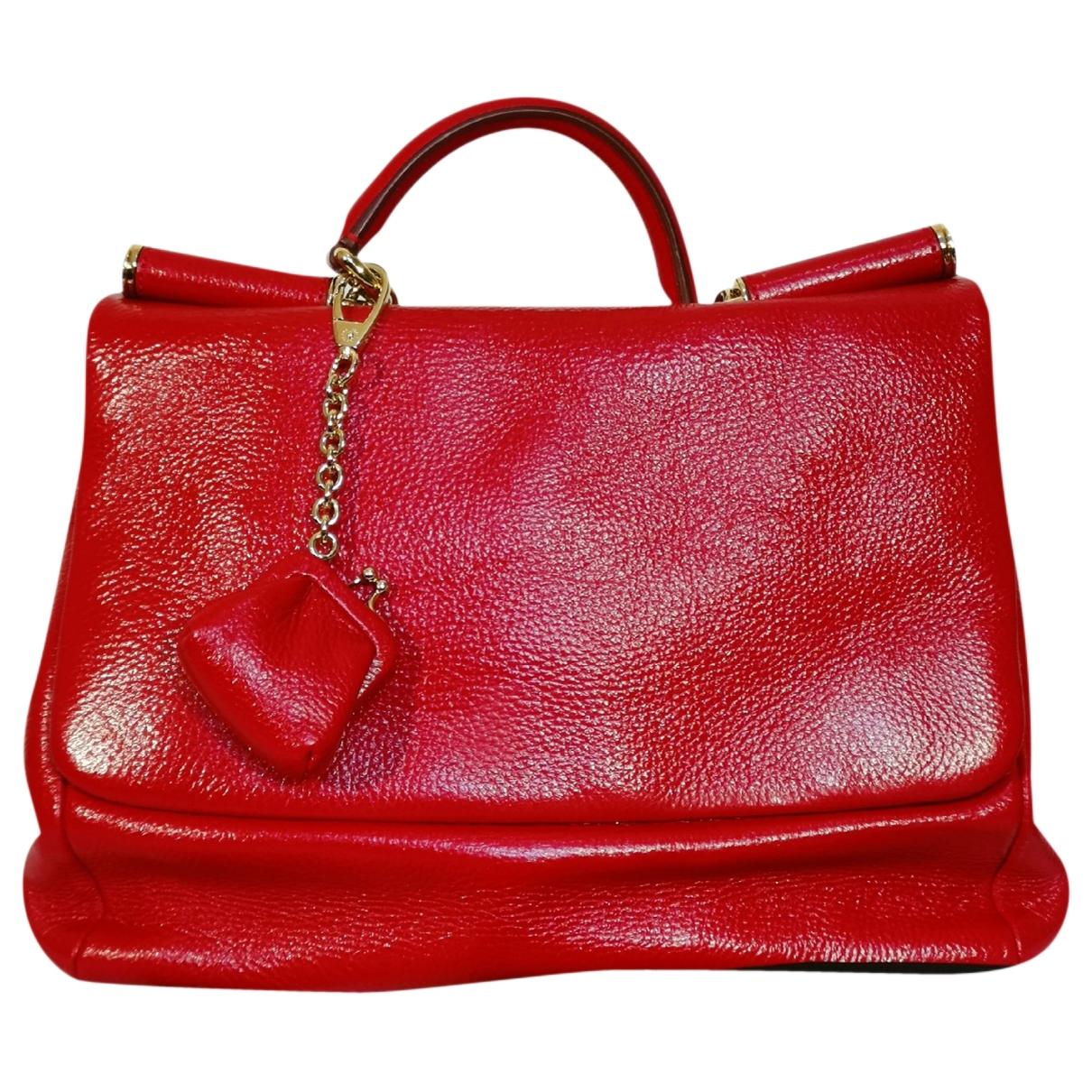 Dolce & Gabbana Sicily Red Patent leather handbag for Women \N
