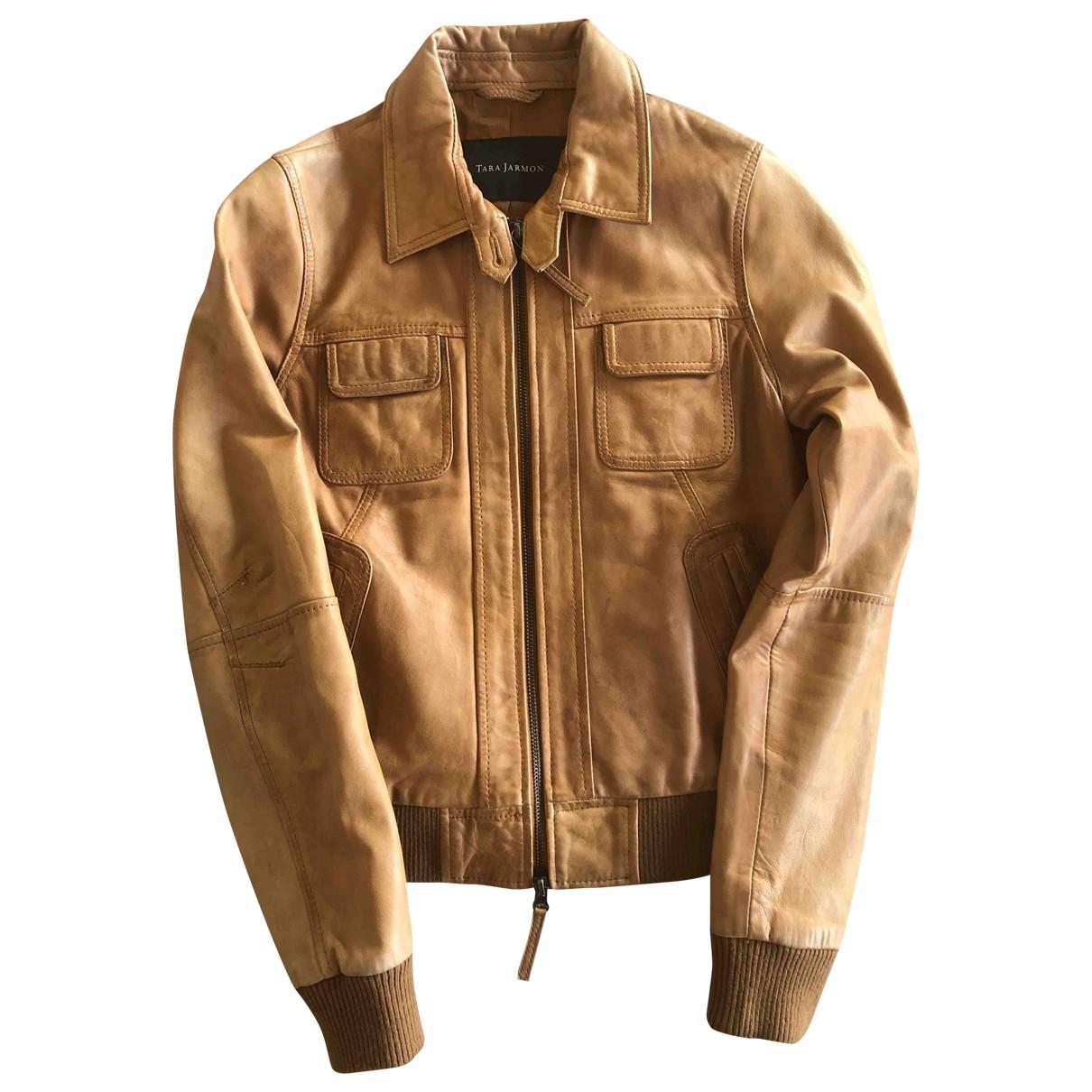 Tara Jarmon \N Camel Leather jacket for Women 38 FR