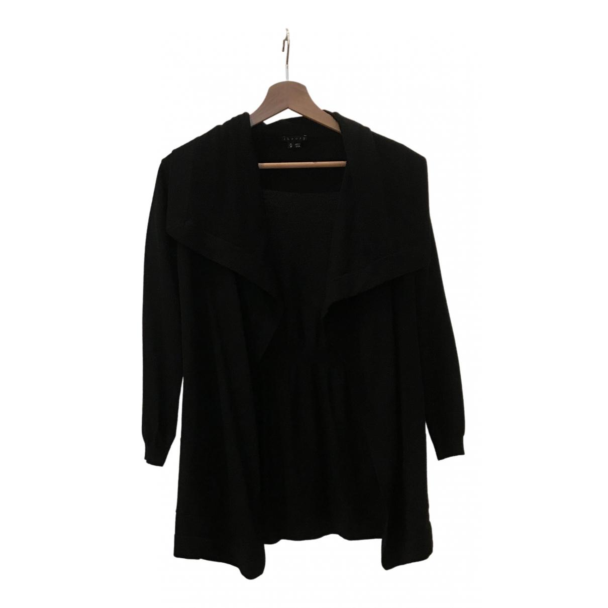 Theory - Pull   pour femme en laine - noir