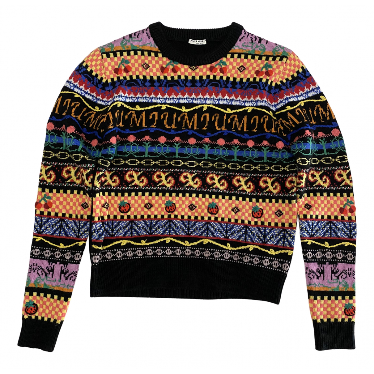 Miu Miu - Pull   pour femme en laine - multicolore