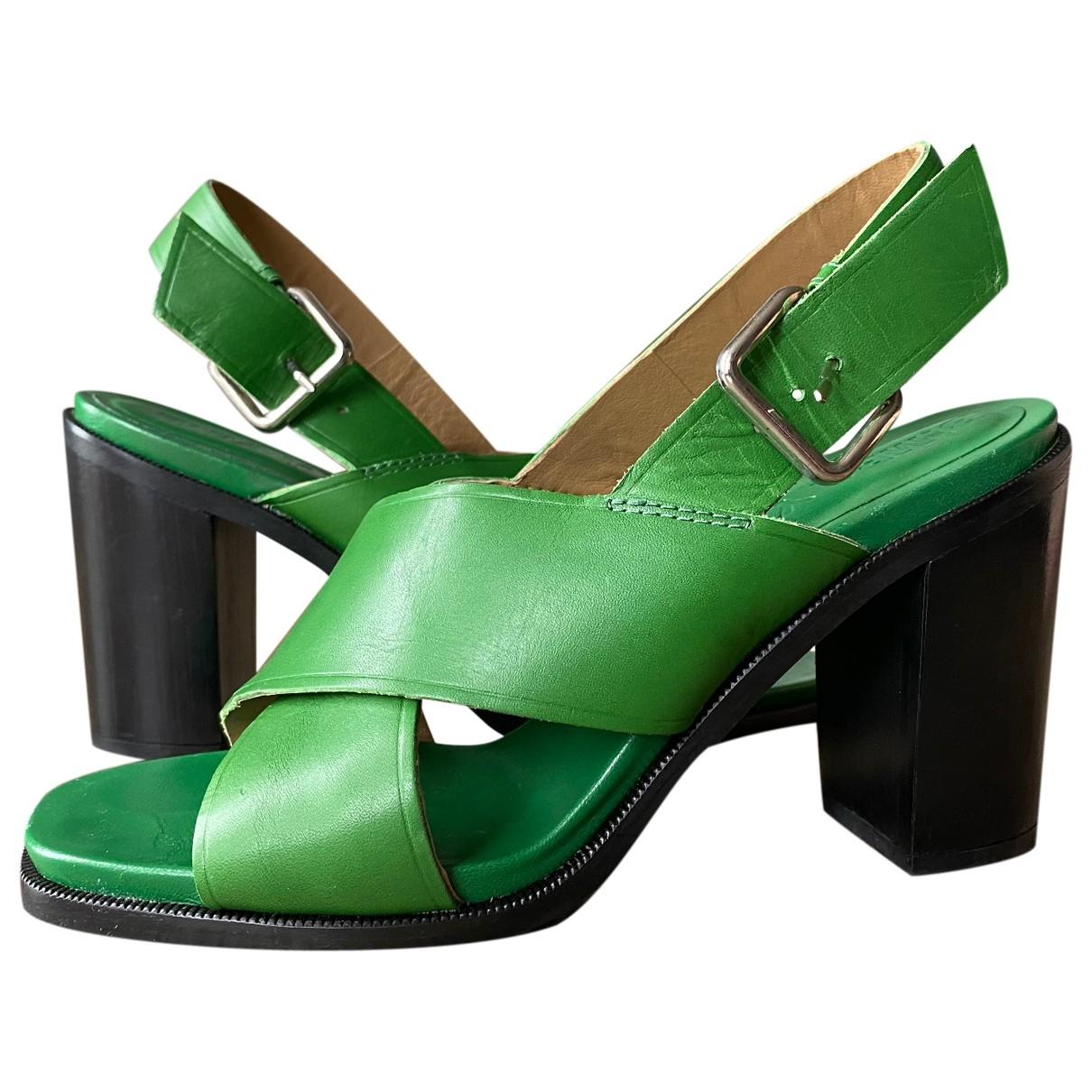 Bimba Y Lola - Sandales   pour femme en cuir - vert