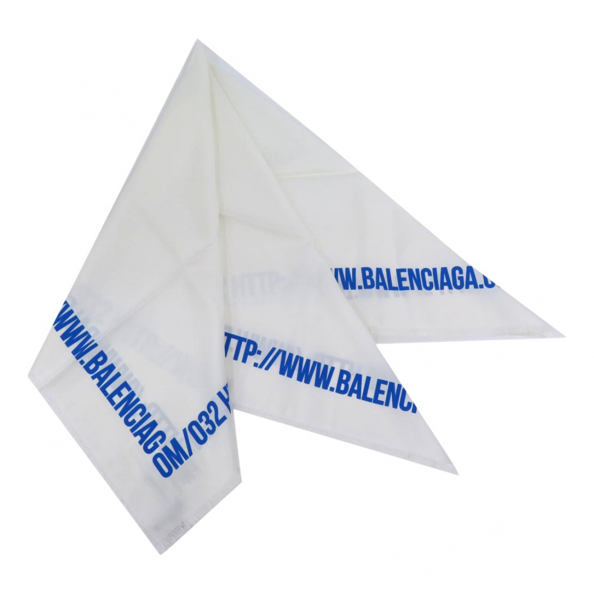 Balenciaga - Foulard   pour femme en soie - blanc