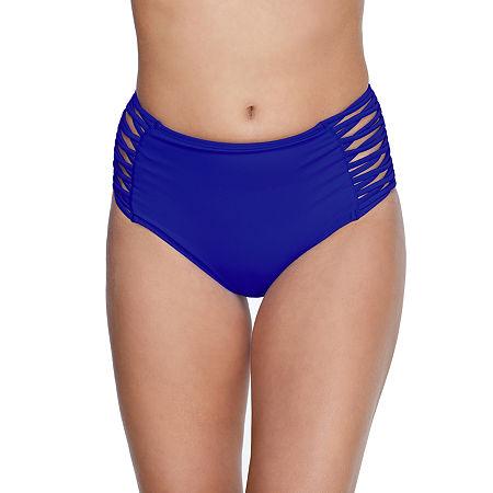 Arizona High Waist Bikini Swimsuit Bottom Juniors, Xx-large , Blue