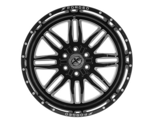 XF Off-Road XFX-303 Wheel 20x10 6x135|6x139.7 -24mm Black Milled Window