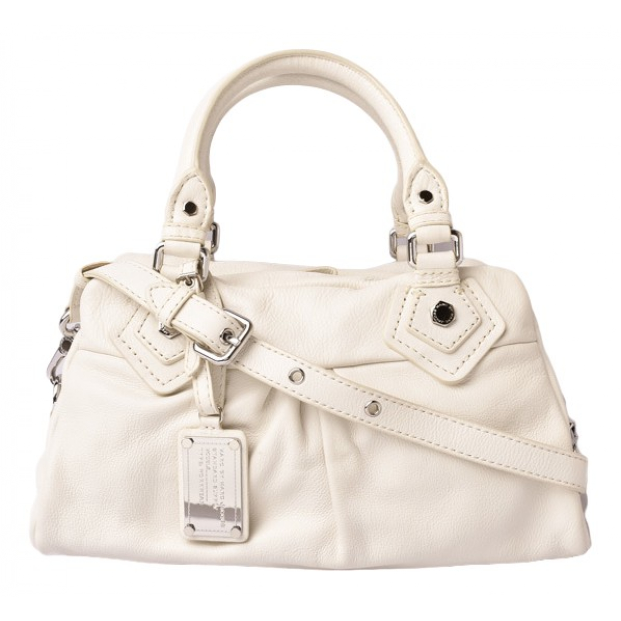 Marc By Marc Jacobs \N Handtasche in  Weiss Leder