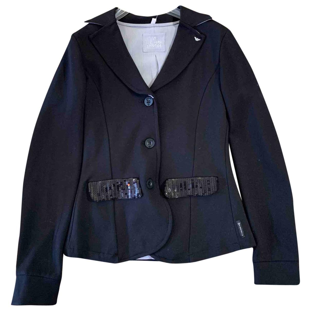 Armani Baby - Blousons.Manteaux   pour enfant en coton - noir
