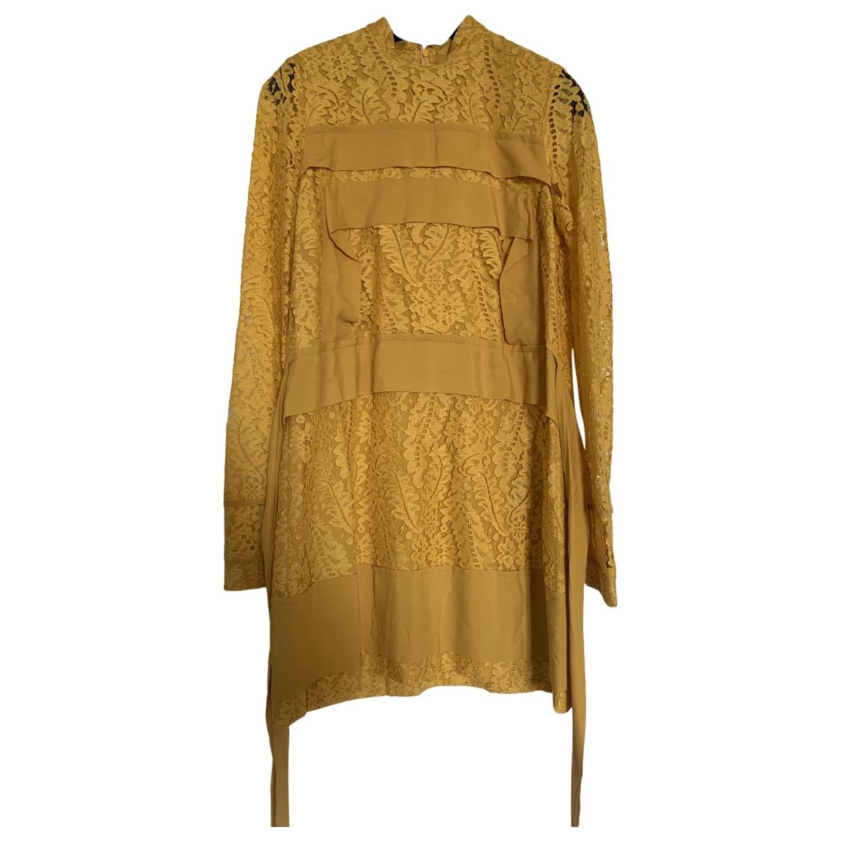 N°21 \N Kleid in  Gelb Baumwolle