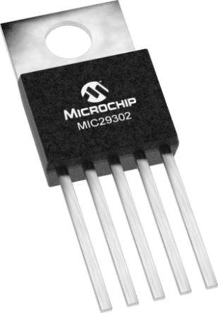 Microchip MIC29302AWU, LDO Regulator, 3A Adjustable, 1.24 → 15 V, ±2% 5-Pin, D2PAK (50)