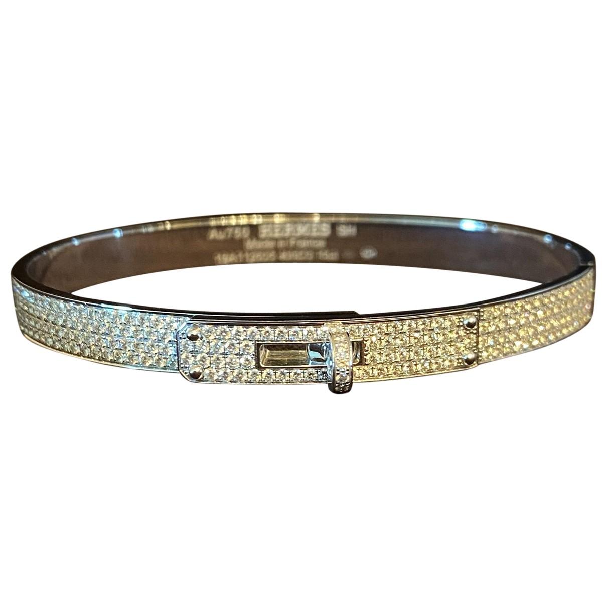 Hermes - Bracelet Kelly pour femme en or blanc