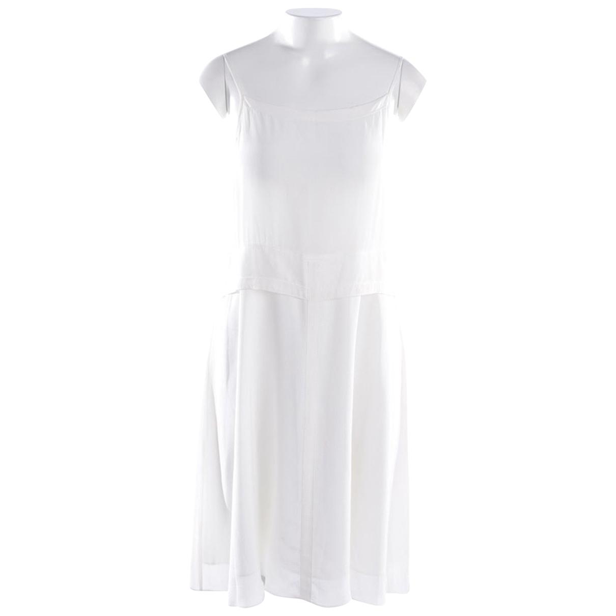 Dorothee Schumacher \N White Silk dress for Women 40 FR