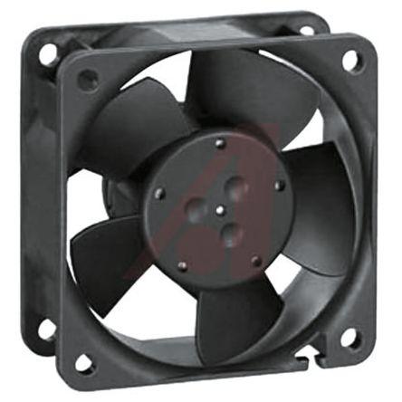 ebm-papst , 12 V dc, DC Axial Fan, 60 x 60 x 25mm, 43m³/h, 1.8W