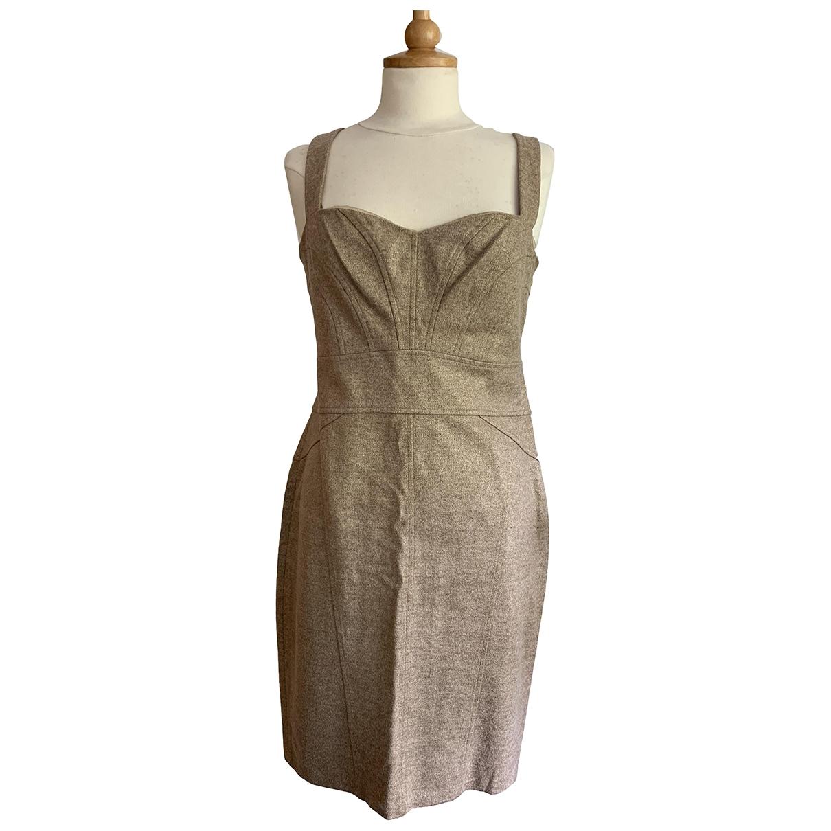 Diane Von Furstenberg \N Gold Wool dress for Women 12 UK