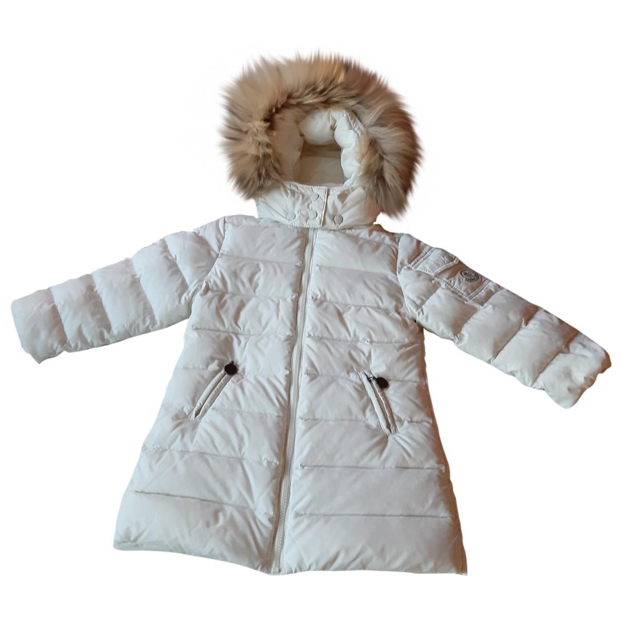 Moncler - Blousons.Manteaux Long pour enfant - blanc