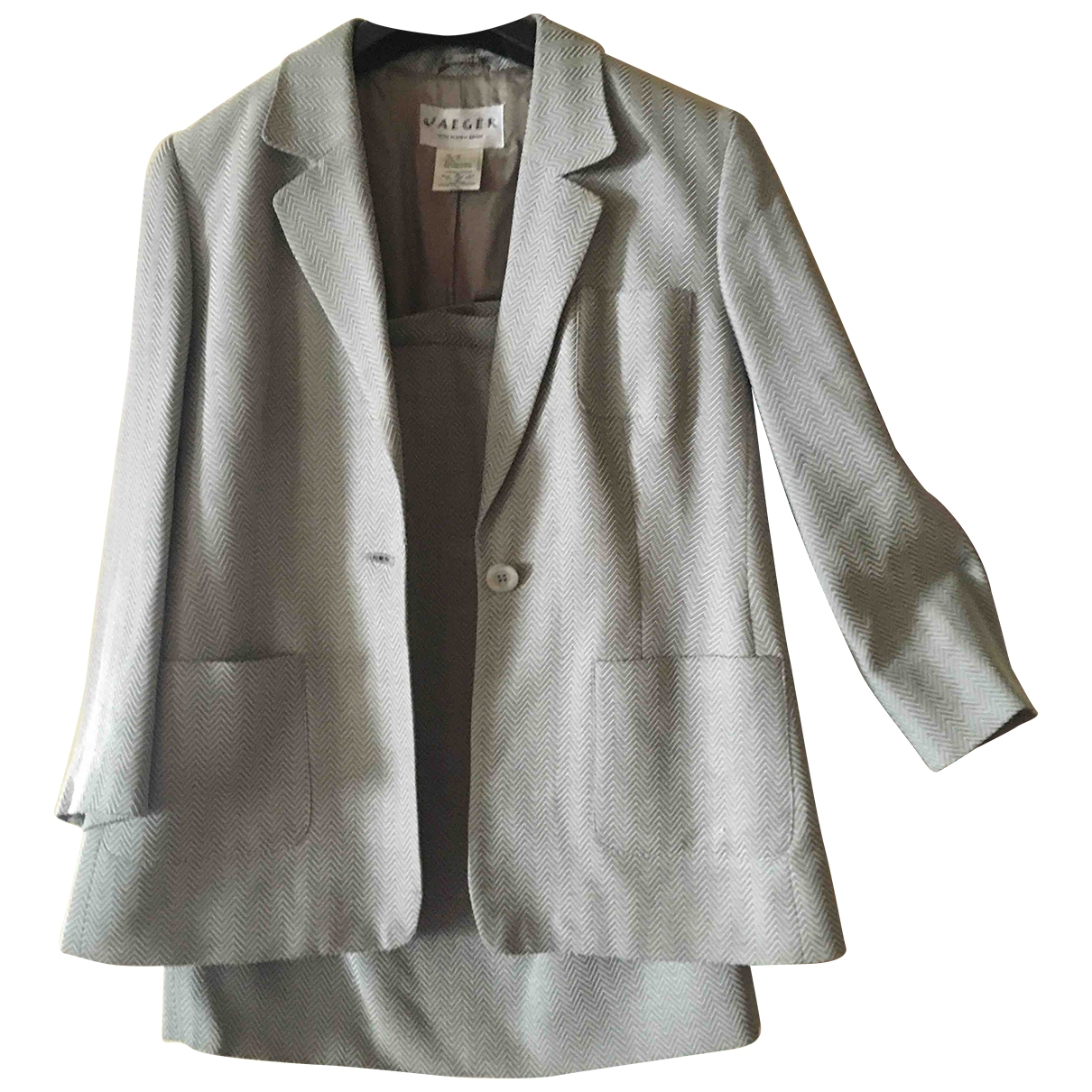 Jaeger-lecoultre \N Grey Cotton jacket for Women 16 UK