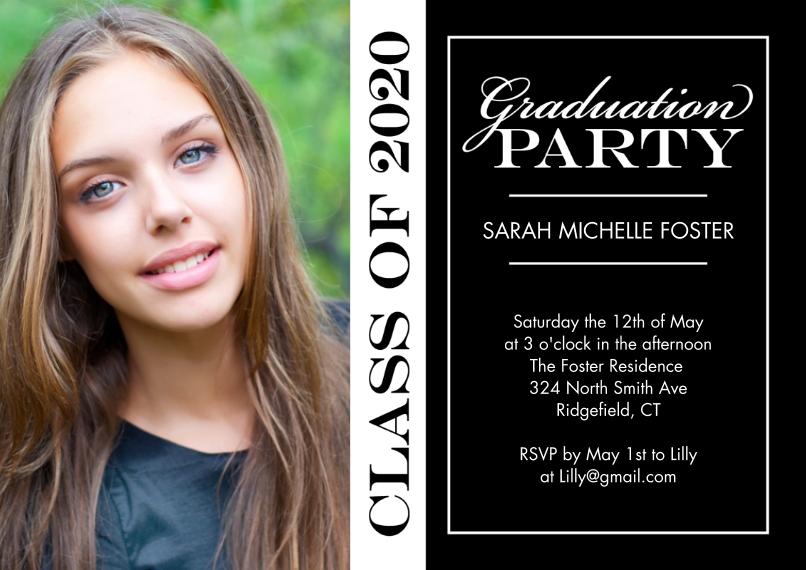 2020 Graduation Invitations 5x7 Cards, Standard Cardstock 85lb, Card & Stationery -Graduation Invite Party 2020 by Tumbalina