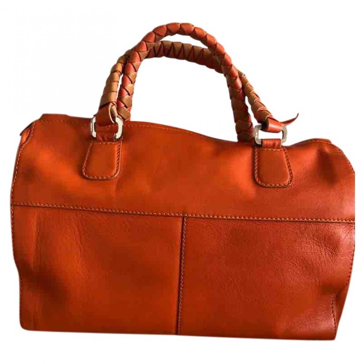 Malo \N Orange Leather handbag for Women \N
