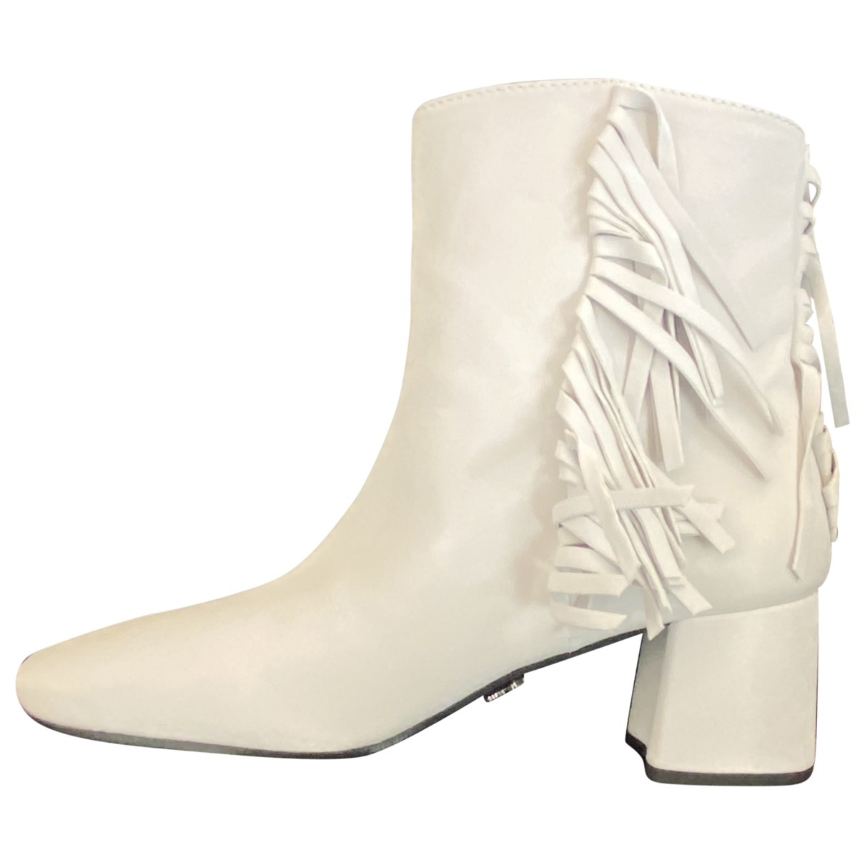 Prada - Boots   pour femme en cuir - blanc