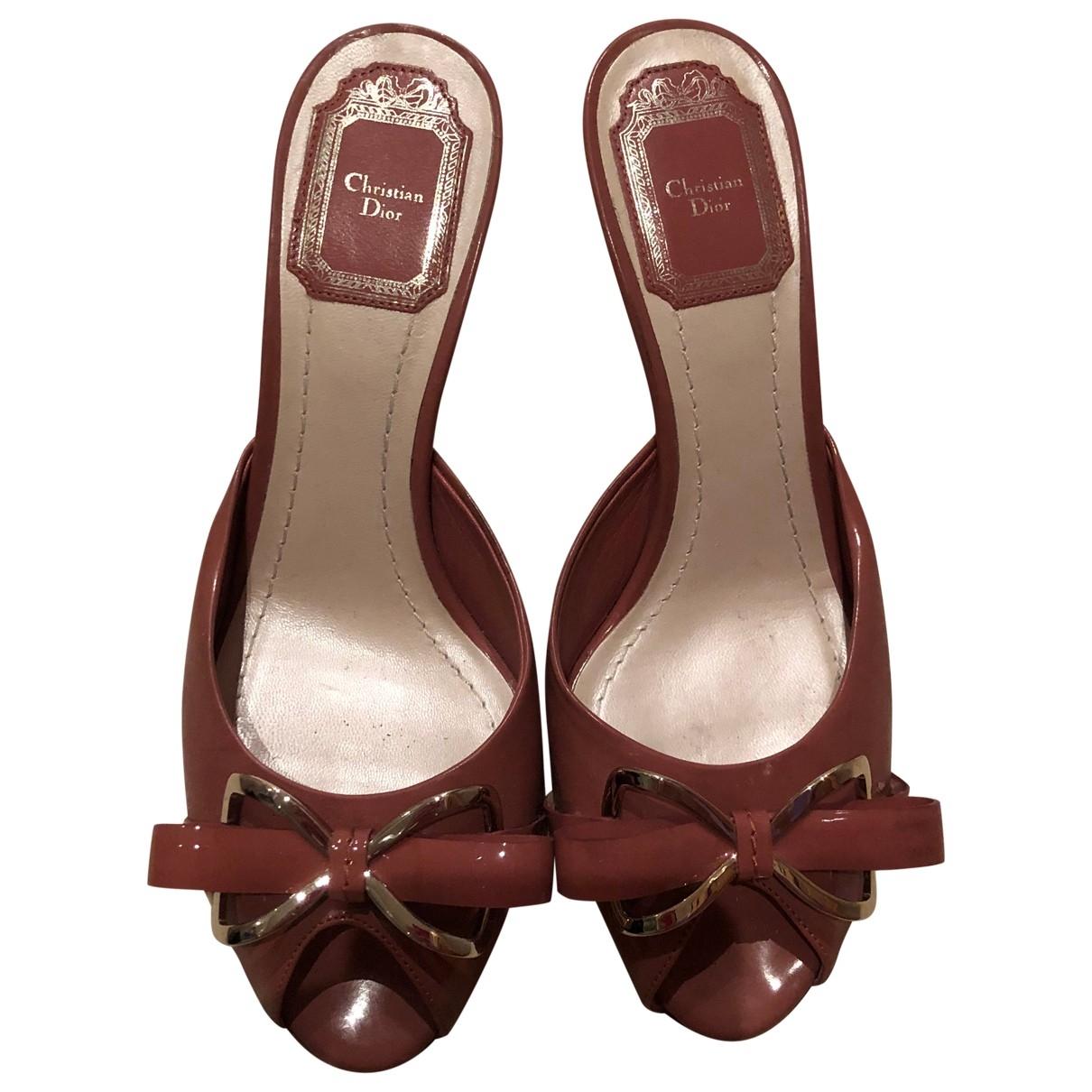 Christian Dior - Sandales   pour femme en cuir verni - rose