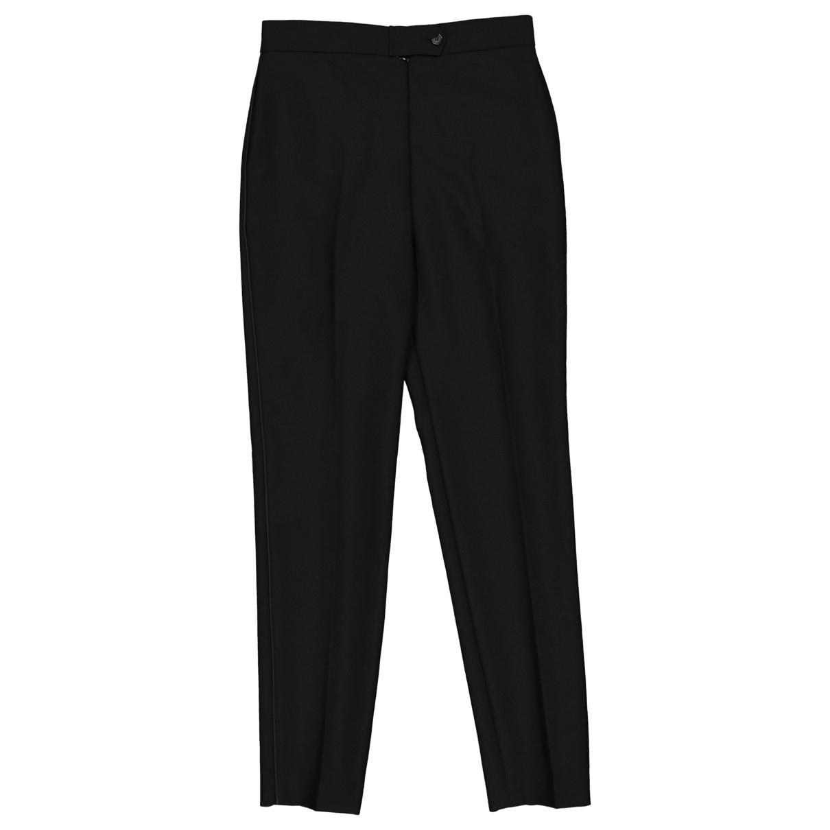 Balenciaga N Black Wool Trousers for Women 34 FR