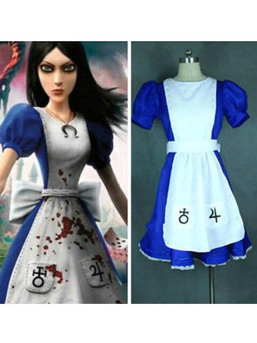 Milanoo Halloween Alice: Devoluciones de locura Alicia Maid vestido imitacion cuero
