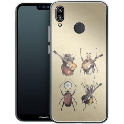 Huawei P20 Lite Silikon Handyhuelle - Meet The Beetles von Eric Fan