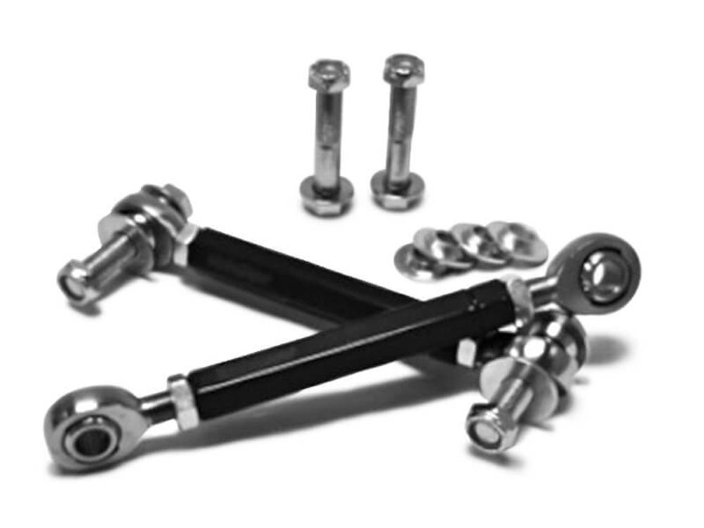 Steinjager J0013909 Without Drop Clevises Sway Bar End Links M12 x 1.75 303mm Long Chrome Moly Heims Powder Coated Steel Tubes