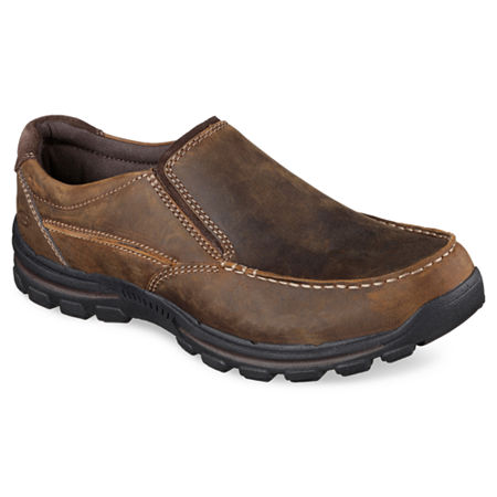 Skechers Relaxed Fit Rayland Mens Casual Slip-On Shoes, 10 Medium, Brown