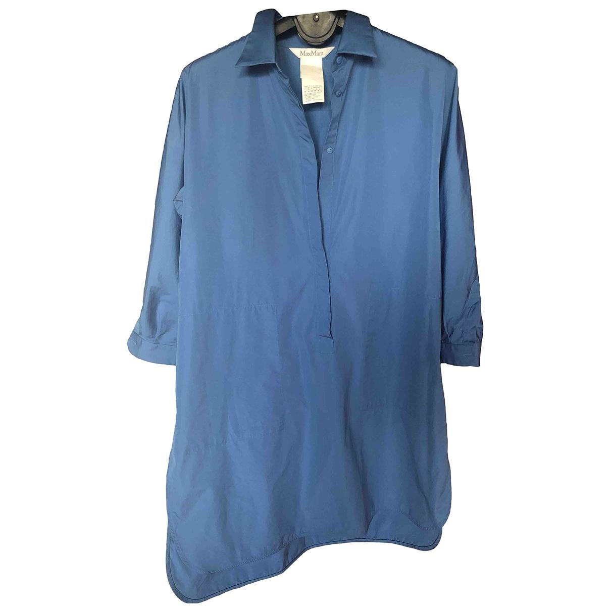 Max Mara \N Blue Cotton dress for Women 50-52 IT